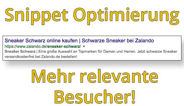 OnPage Optimierung – Durch bessere Snippets mehr Traffic auf der eigenen Webseite