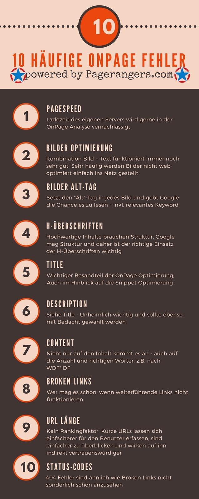 10 häufige OnPage Fehler
