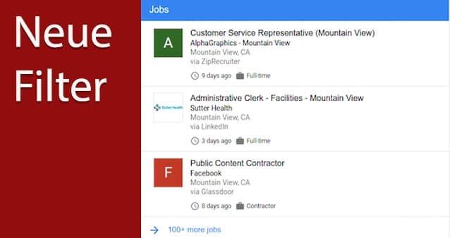 Google Analytics jetzt mit Jobfilter