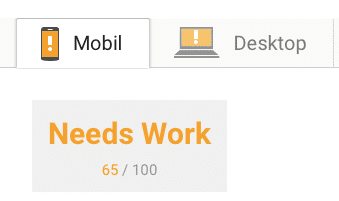 PageSpeed check