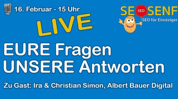 LIVE-Podcast: Eure Fragen, unsere Antworten