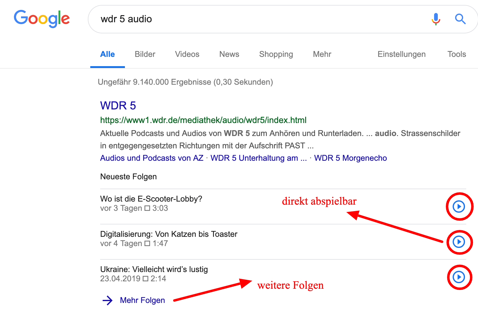 Google integriert Podcasts in SERPS